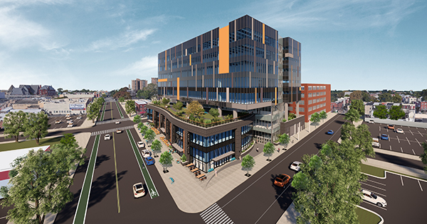 3.0 University Place - 41st Street Corner from Above
