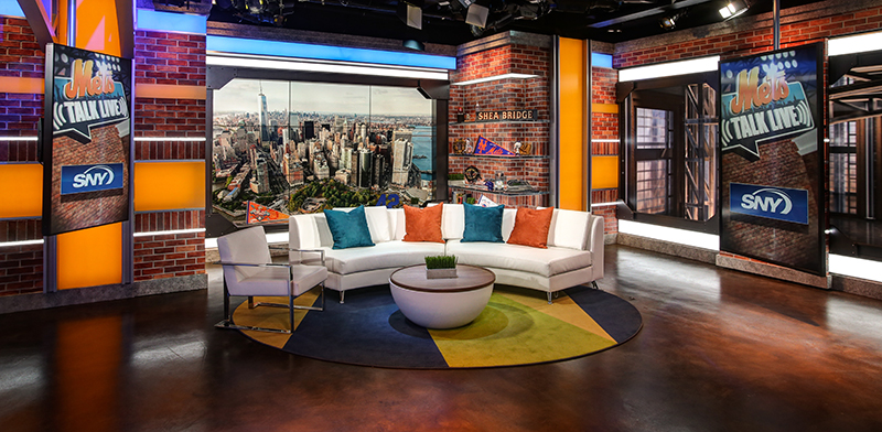 SNY is on the move.  The TV home of the Mets will begin broadcasting from a new set of studios at 4 World Trade Center on Saturday night, with Geico SportsNite batting leadoff at 10:30 p.m.